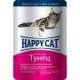 Happy Cat пауч для кошек с кусочками тунца в желе