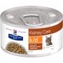 Хиллс консервы для кошек K D для почек с курицей и овощами