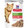 Хиллс пауч для кошек старше 7 лет Youthful Vitality с лососем
