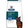 Хиллс сухой для кошек M/D при сахарном диабете и нарушении обмен