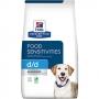 Хиллс сухой для собак D/D лечение пищевых аллергий утка и рис