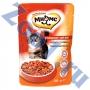 Мнямс пауч для взрослых кошек с говядиной в соусе