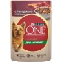 Purina One пауч Моя Собака Непоседа с говядиной