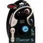 Рулетка Flexi New Comfort L (до 60 кг) ременной поводок 5 м