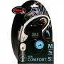 Рулетка Flexi New Comfort M (до 20 кг) тросовый поводок 5 м