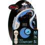 Рулетка Flexi New Comfort M (до 25 кг) ременной поводок 5 м